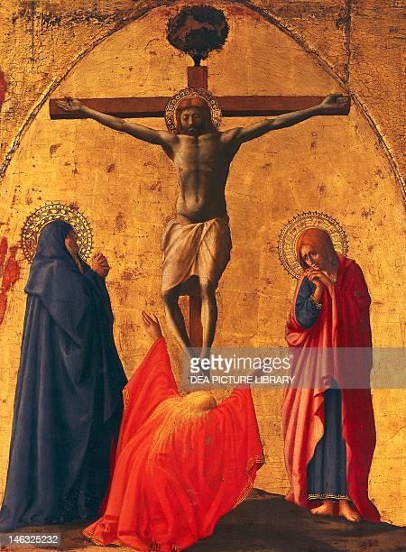 Naples, Museo Nazionale Di Capodimonte The crucifixion, panel from the Altarpiece of the Church of the Carmine in Pisa by Tommaso Masaccio , tempera...