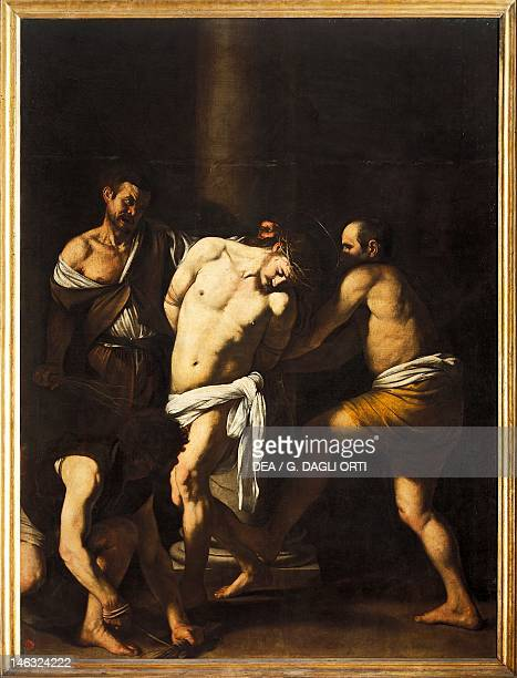 Naples Museo Nazionale Di Capodimonte The Flagellation of Christ by Michelangelo Merisi da Caravaggio