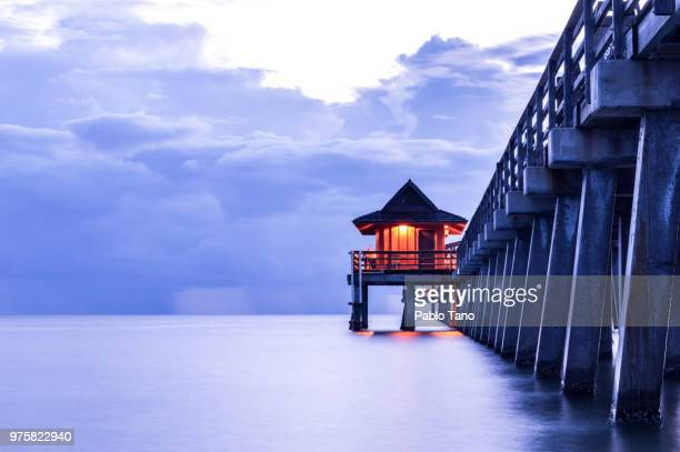 naples pier, naples, florida, usa - naples florida stock pictures, royalty-free photos & images
