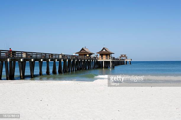 naples pier - naples florida stock pictures, royalty-free photos & images