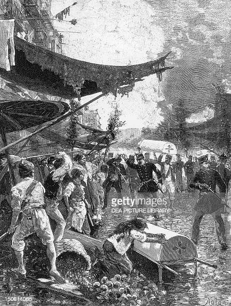 Naples riots during the cholera epidemic 1884 Italy 19th century