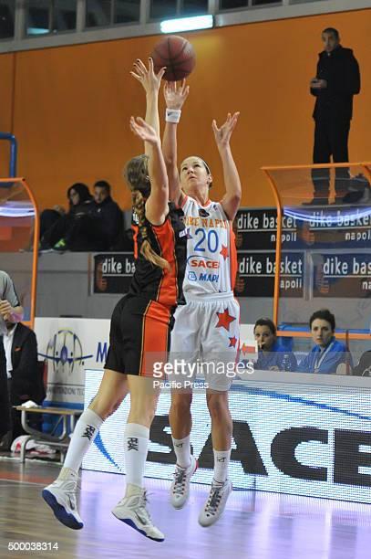 Naples shooting guard Jelena Ivezic in action during the match between Saces Dike Napoli versus Orange Blizzards on EuroCup Women