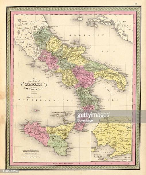 Naples the Two Sicilies 1849 Illustration by S Augustus Mitchell