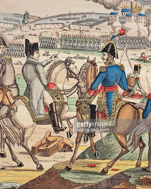 Napoleon and Marshal Michel Ney detail from the Battle of Jena October 1806 popular print by JeanCharles Pellerin Epinal Napoleonic wars Germany 19th...