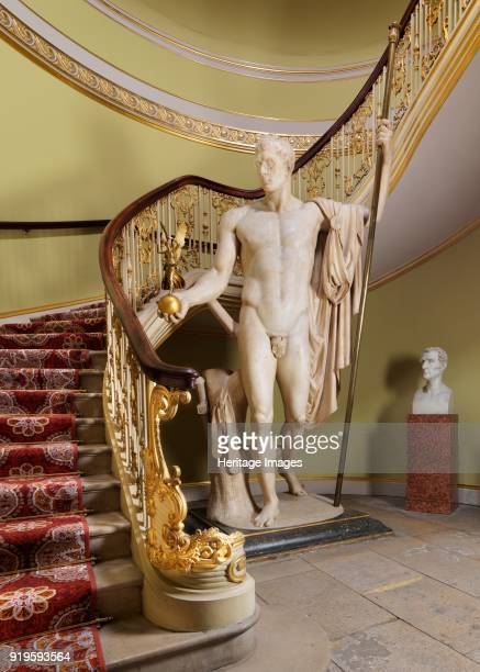 Napoleon as Mars the Peacemaker' statue by Antonio Canova Apsley House London circa 2015 A bust of the Duke of Wellington by Benedetto Pistrucci...