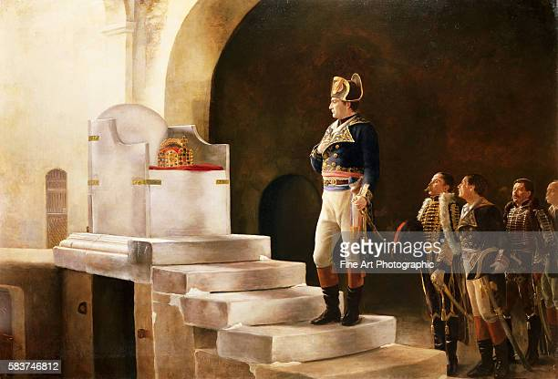 Napoleon at Charlemagne's Throne '98 by HenriPaul Motte