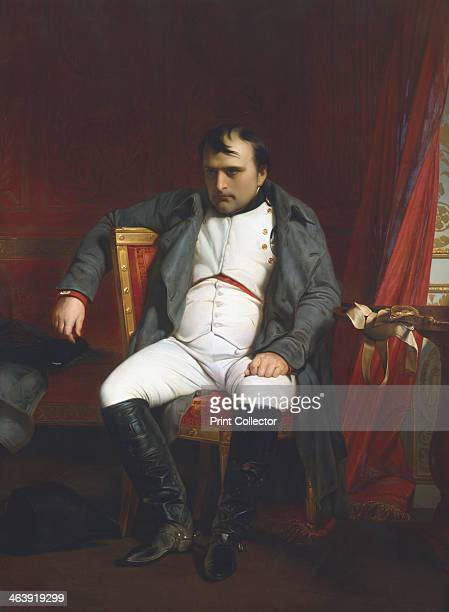 'Napoleon at Fontainebleau During the First Abdication - 31 March 1814', . The invasion of France by the Allies culminated in Napoleon's abdication...