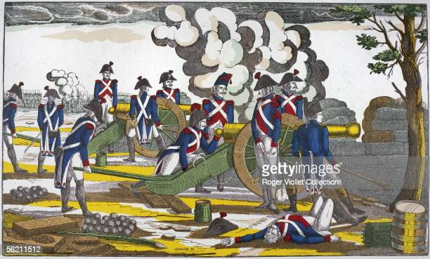 Napoleon at the siege of Toulon Idealized image