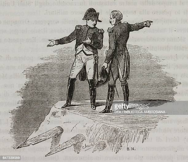 Napoleon Bonaparte arguing with an official about the engineering works for the expansion of the port of Antwerp illustration from the first Italian...