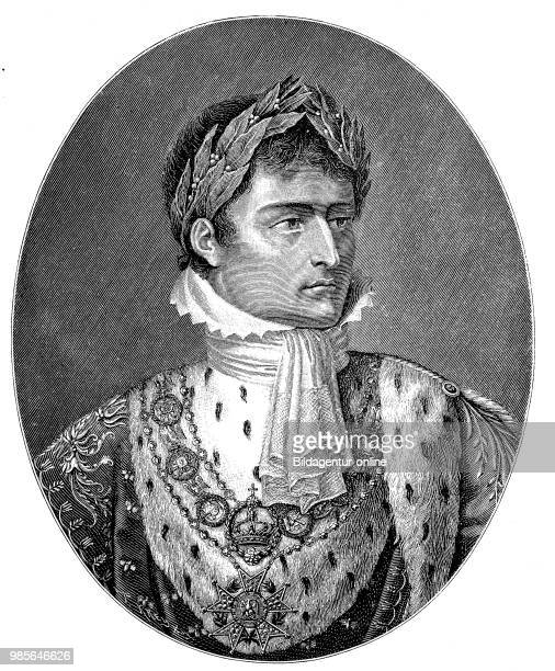 Napoleon Bonaparte as Emperor Napoleon I 15 August 1769 5 May 1821 was a French general revolutionary dictator and emperor digital improved...