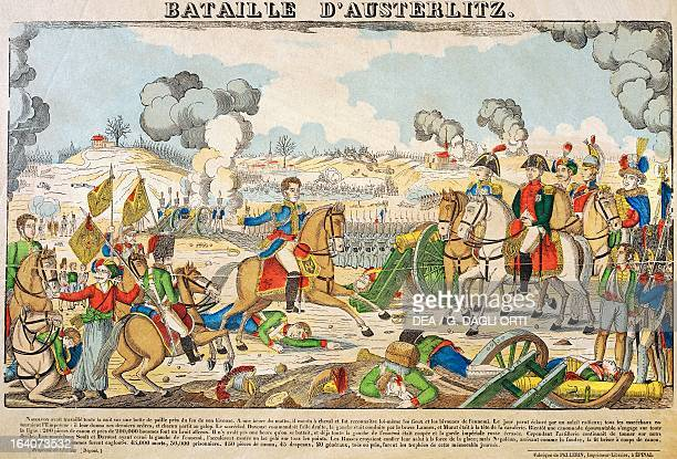 Napoleon Bonaparte at the Battle of Austerlitz 2 December 1805 popular print by JeanCharles Pellerin Epinal Napoleonic Wars Czech Republic 19th...