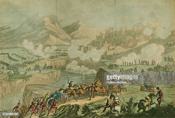 Napoleon Bonaparte, General Andre Massena and the French Army of Italy defeats an Austrian Hapsburg Army Corps under Baron Paul Davidovich at the...