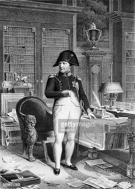 Napoleon Bonaparte in his office of the Tuileries in Paris Period of the First French Empire