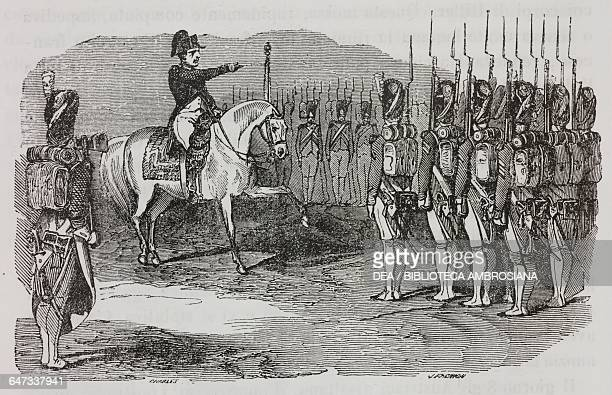 Napoleon Bonaparte reaching the army in Donauworth 17 April 1809 illustration from the first Italian edition of The Memorial of Saint Helena Volume 2...