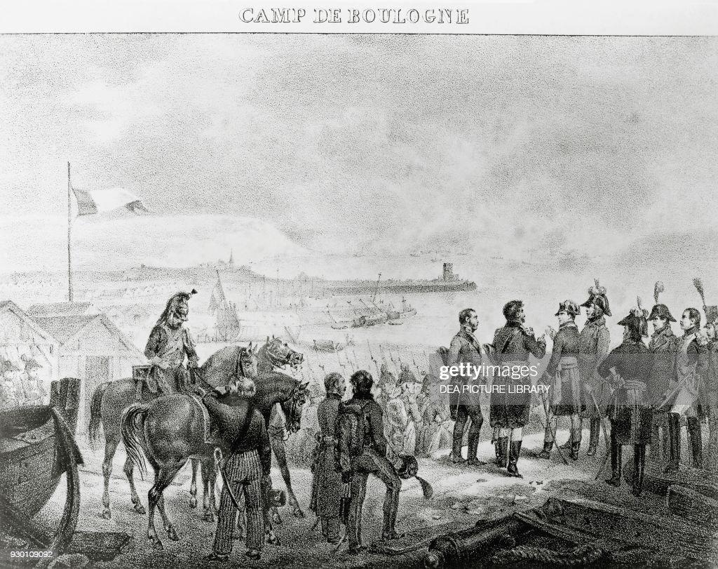 Napoleon Bonaparte (1769 1821) Visiting The Military Camp At Boulogne Sur