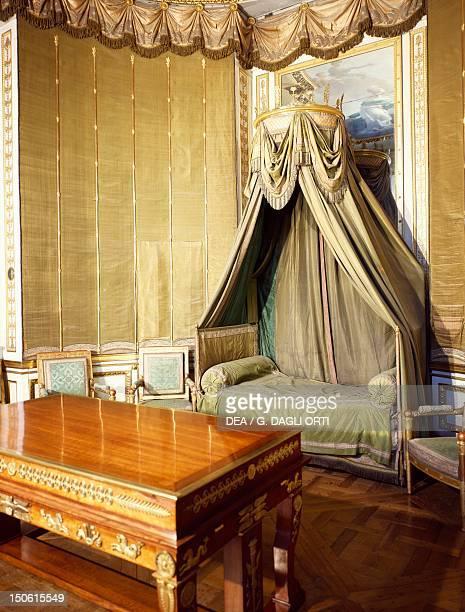 Napoleon Bonaparte's bedchamber Chateau de Fontainebleau France 18th century