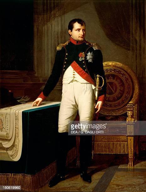 Napoleon Bonaparte's portrait by Robert Lefevre oil on canvas 226x157 cm Napoleonic era France 19th century