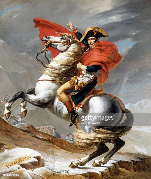Napoleon Crossing the Alps 1802 The full French title of the painting is Bonaparte franchissant le Grand SaintBernard 20 mai 1800 and in English is...