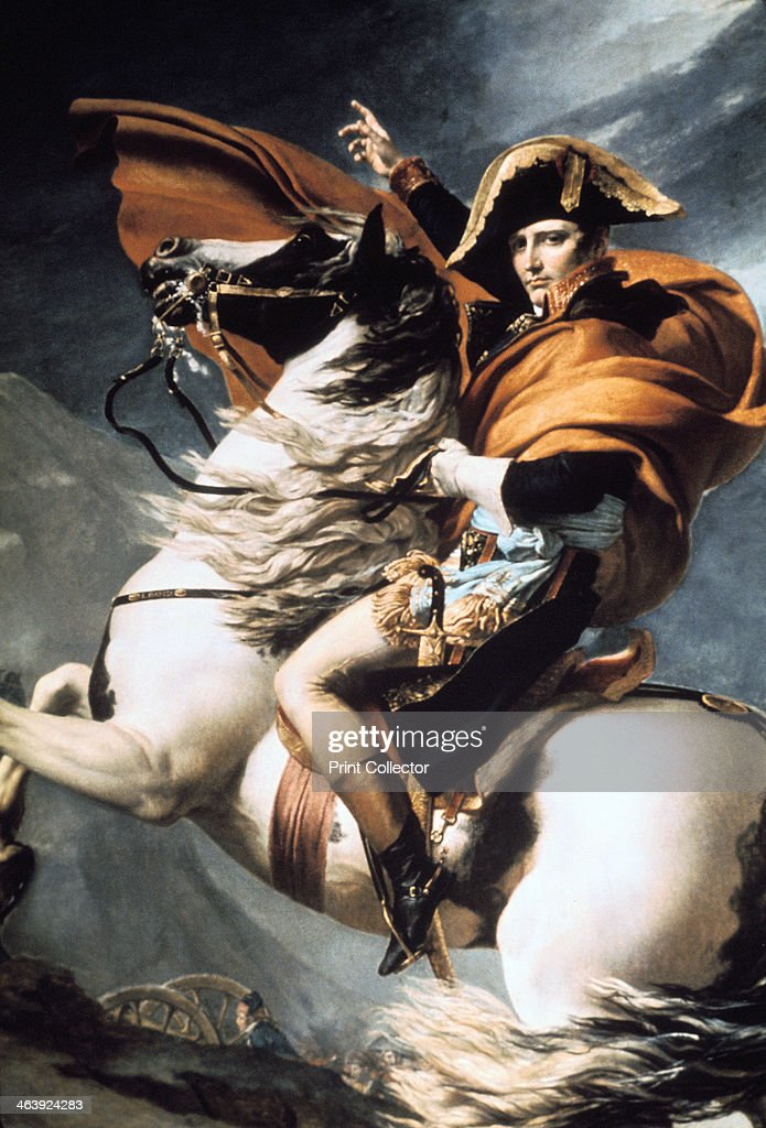 'Napoleon Crossing the Alps', detail, c1800. Artist: Jacques Louis David : News Photo