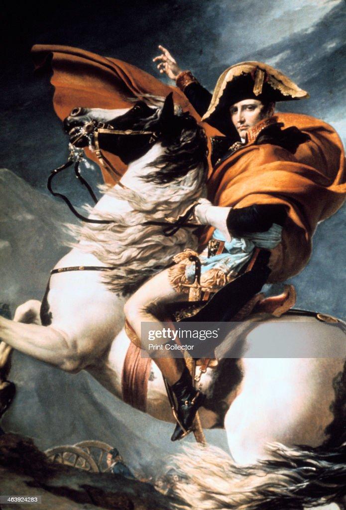 'Napoleon Crossing the Alps', detail, c1800.
