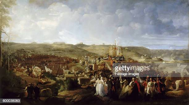 Napoleon Distributes the Crosses of the Legion of Honor at the Camp of Boulogne on August 16 1806. Found in the collection of Musée de l'Histoire de...