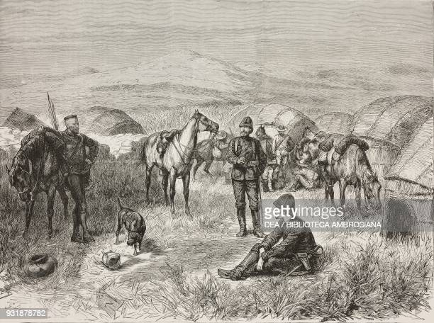 Napoleon Eugene Bonaparte with Jahleel Brenton Carey just before a deadly attack at the hands of the Zulus on June 1 South Africa AngloZulu war...