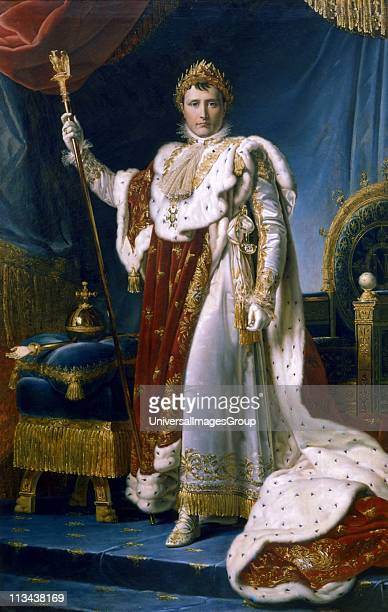 Napoleon I Emperor of France' Napoleon Bonaparte in his coronation robes 1804 Francoise Gerard French painter Musee National de Versailles France