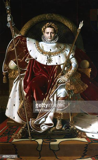 'Napoleon I on the Imperial Throne' 1806 Napoleon Bonaparte assumed the title of Emperor of France on 18 May 1804