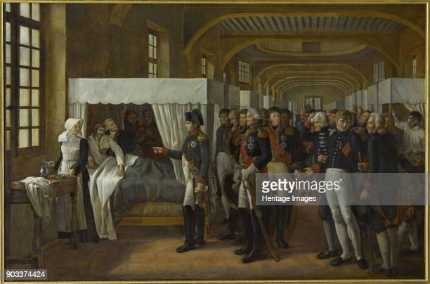 Napoleon I visiting the infirmary of Les Invalides February 11 1808 Found in the Collection of Musée de l'Histoire de France Château de Versailles
