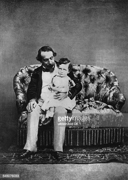Napoleon III. *20.04.1808-09.01.1873+französischer Präsident 1849-1852,Kaiser der Franzosen 1852-1870- mit seinem Sohn Napoléon Eugène Louis...
