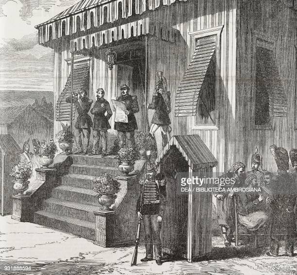 Napoleon III listening to the report of the plebiscite of Venice being read from the Gazzetta Ufficiale of the Kingdom of Italy October France...