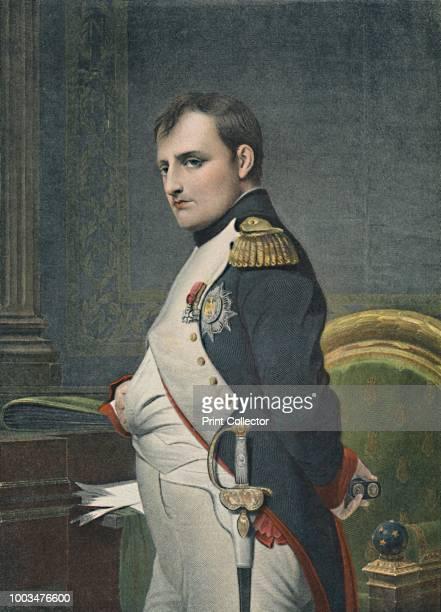 Napoleon in His Study', circa 1800, . Napoleon I Bonaparte , Emperor of France from 1804. Napoleon enjoyed a meteoric rise through the ranks of the...