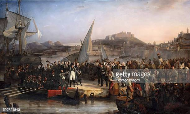 Napoleon leaving the island of Elba on February 26 1815 Found in the collection of Musée de l'Histoire de France Château de Versailles