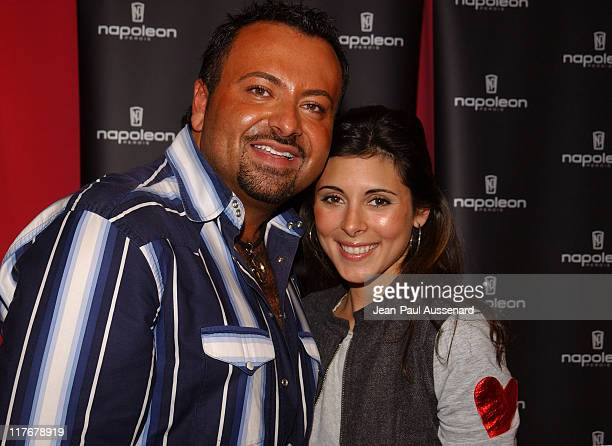 Napoleon Perdis and JamieLynn DiScala during Silver Spoon PreGolden Globe Hollywood Buffet Day 2 at Private Residence in Los Angeles California...