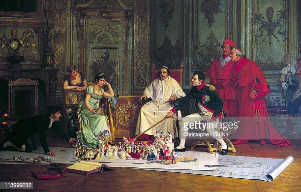Napoleon the photobiographie In France On October 20 1999For the coronation ceremony Napoleon supervises the rehearsals on a model prepared by the...