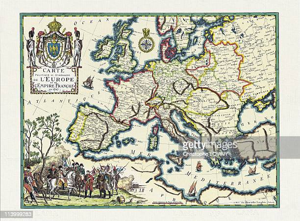 Napoleon, the photobiographie In France On October 20, 1999-Map of the Empire in 1807. Chalencon Coll.