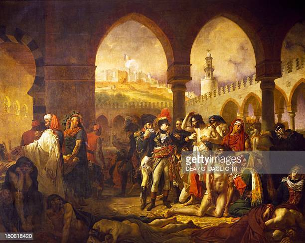 Napoleon visiting plague victims in Jaffa March 11 painting by AntoineJean Gros oil on canvas French Revolutionary Wars Israel 18th century
