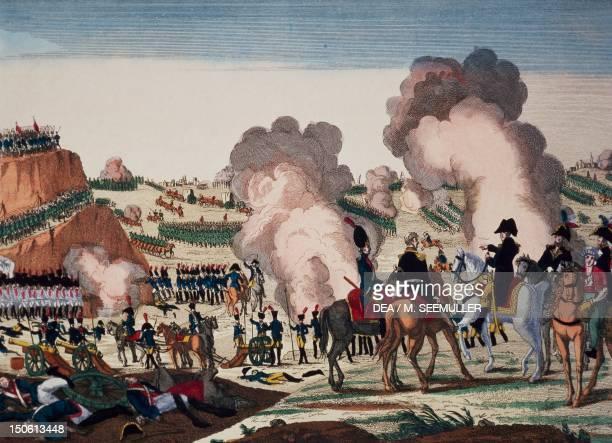 Napoleon winning the Battle of Jena October 15 1806 Napoleonic Wars Germany 19th century