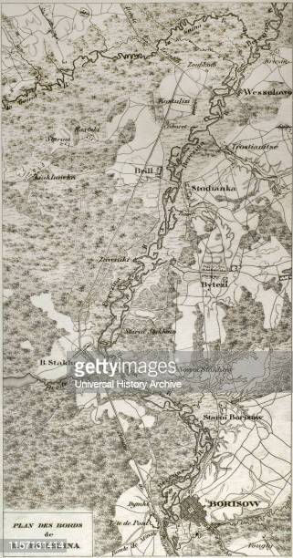 Napoleonic map Banks of the Berezina river Battle of Berezina It took place from 26 to 29 November 1812 between the French army of Napoleon...