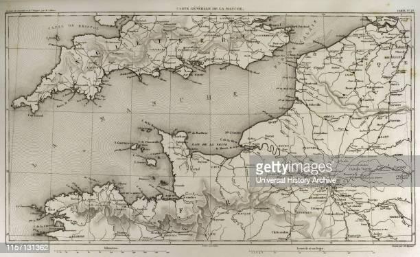 Napoleonic map English Channel Atlas de l'Histoire du Consulat et de l'Empire History of the Consulate and the Empire of France under Napoleon by...