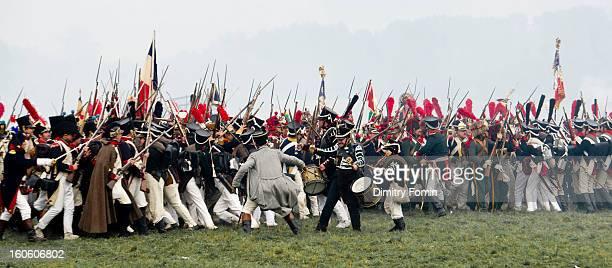 Napoleonic war reenachment, Re-enactor, helmet, Borodino, Waterloo