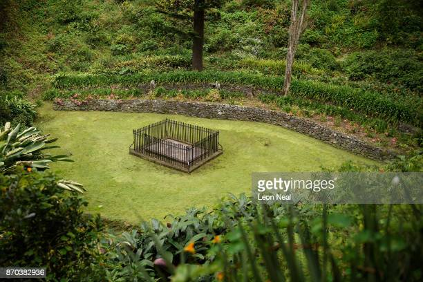 Napoleon's Tomb lies in a clearing on October 24 2017 near Alarm Forest Saint Helena The French Emperor was exiled to the island before dying in 1821...