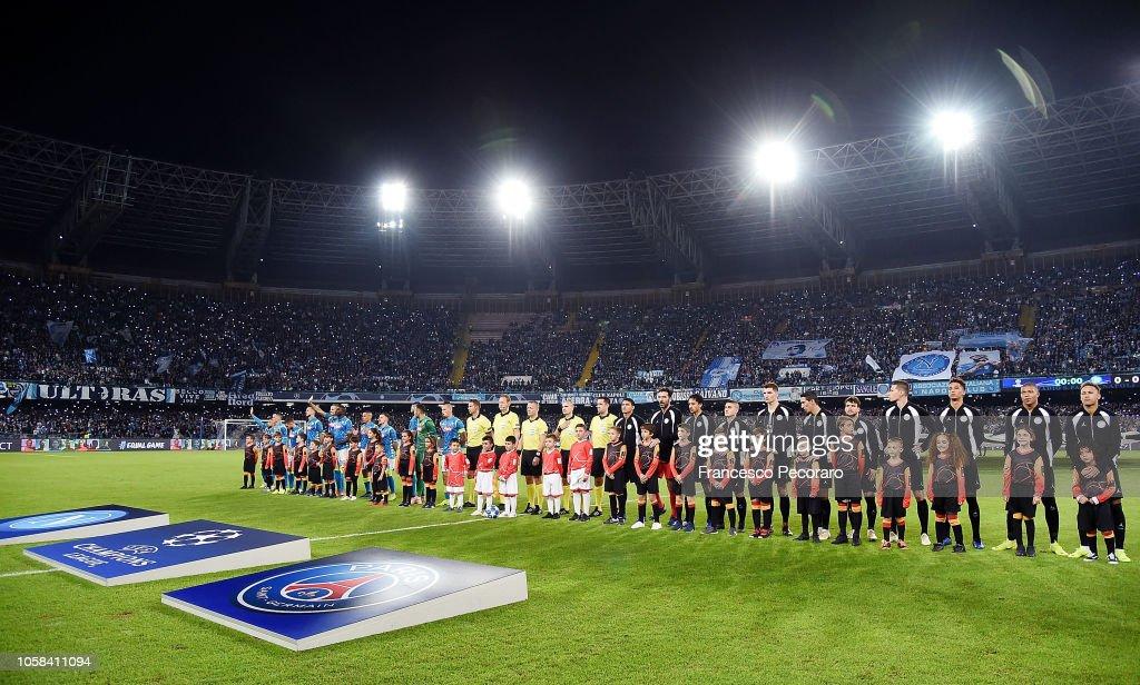 SSC Napoli v Paris Saint-Germain - UEFA Champions League Group C : ニュース写真