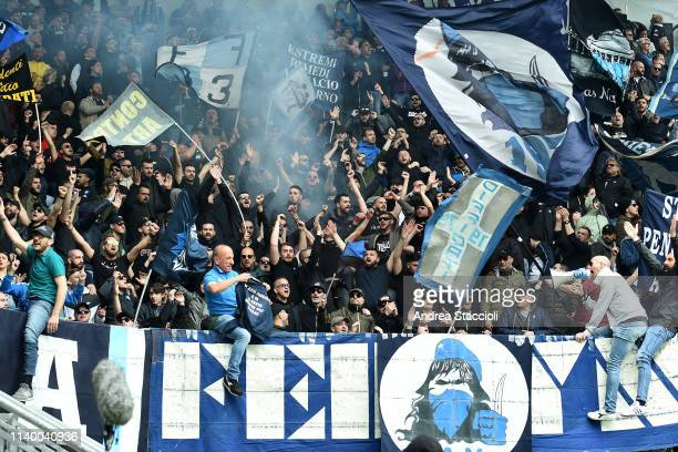 Napoli fans cheer on during the match between Frosinone Calcio and SSC Napoli SSC Napoli won 20 over Frosinone Calcio