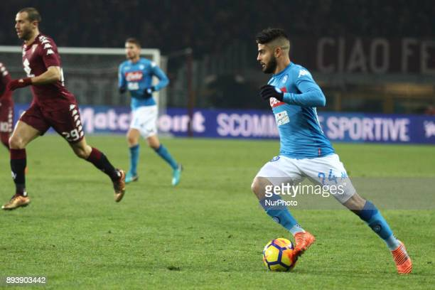 Napoli forward Lorenzo Insigne in action during the Serie A football match n17 TORINO NAPOLI on at the Stadio Olimpico Grande Torino in Turin Italy