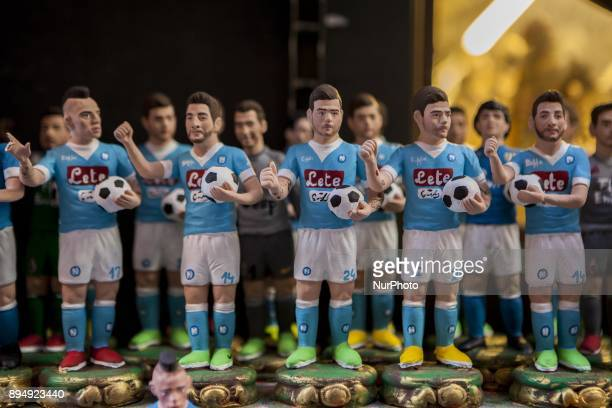 SSC Napoli MAREK HAMSIK DRIES MERTENS LORENZO INSIGNE are seen in 'Via San Gregorio Armeno' in Naples Italy on December 18 2017 Various sculptures...