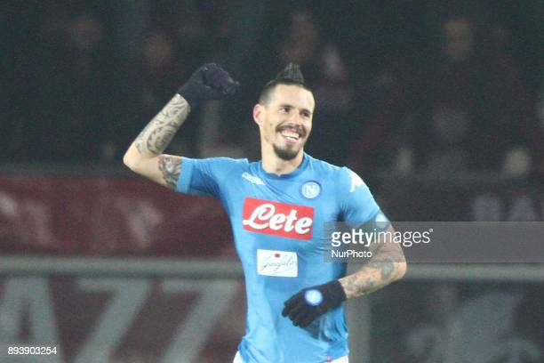 Napoli midfielder Marek Hamsik celebrates after scoring his goal during the Serie A football match n17 TORINO NAPOLI on at the Stadio Olimpico Grande...