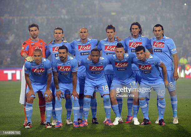 Napoli poses during the Tim Cup Final between Juventus FC and SSC Napoli at Olimpico Stadium on May 20 2012 in Rome Italy