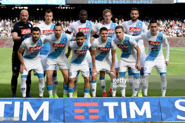 SSC Napoli Team during the Serie A TIM match between SSC Napoli and FC Crotone at Stadio San Paolo Naples Italy on 12 March 2017