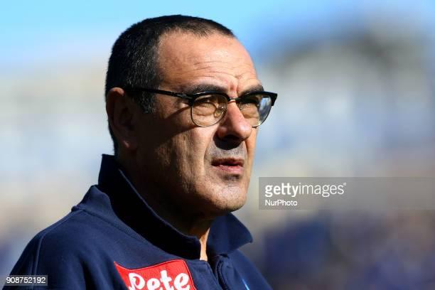 Napoli trainer Maurizio Sarri during the Italian Serie A football match Atalanta Vs Napoli on January 21 2018 at the 'Atleti Azzurri d'Italia...